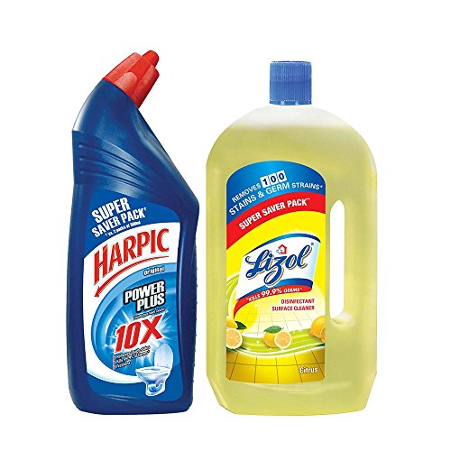 Harpic Bathroom Floor Cleaner : Harpic toilet original cleaner l with lizol floor