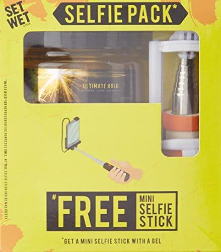 set wet ultimate hold hair gel 250ml with free mini selfie stick omgtricks. Black Bedroom Furniture Sets. Home Design Ideas