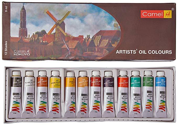 Camlin Kokuyo Artist S Oil Color Box 9ml Tubes 12